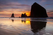 Image of Cannon Beach at sunset