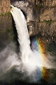 Image of Palouse Falls and Rainbow