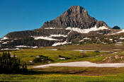 Image of Reynolds Mountain at Logan Pass in Glacier.