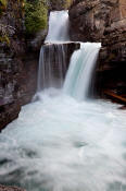 Image of St. Mary Falls in Glacier National Park.