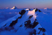 Image of Icy Peak above Clouds, North Cascades