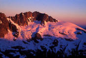 Image of Early Light on Mount Challenger, Morth Cascades