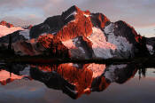 Image of Whatcom Peak sunset, Tapto Lakes, Pickets, Washington