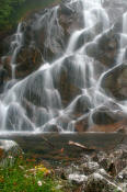 Image of Waterfall below Blum Lakes, North Cascades