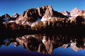 Palisades reflected in Sixth Lake