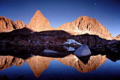 Isosceles Peak reflection in Dusy Basin