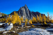 Image of Prusik Peak and fall Larches, Enchantment Lakes