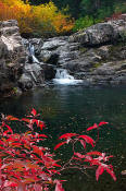 Image of Waterfall in Box Canyon, Alpine Lakes