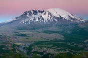 Image of Mount St. Helens at Dusk