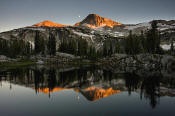 Image of Eagle Cap Peak and Sunset Lake in Wallowas