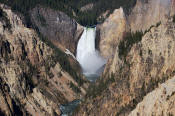 Image of Lower Falls from Artist Point, Yellowstone National Park.